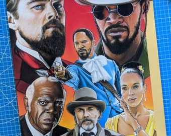 Django Unchained Pastel Drawing