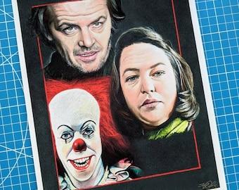Stephen King Trio Art Print