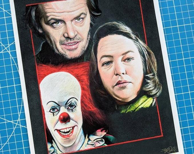 Featured listing image: Stephen King Trio Art Print
