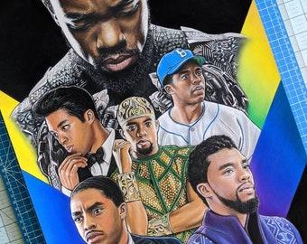 Chadwick Boseman Tribute Drawing