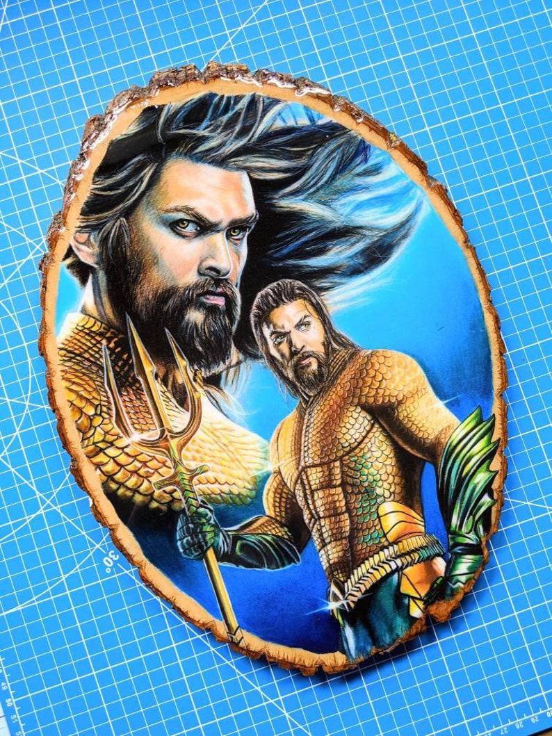 Aquaman Original Wood Drawing image 0
