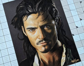 Will Turner Original Pastel Drawing