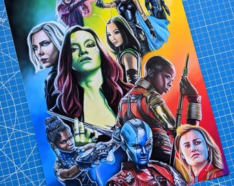Limited Edition Marvel Women Art Print