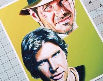 Harrison Ford Art Print