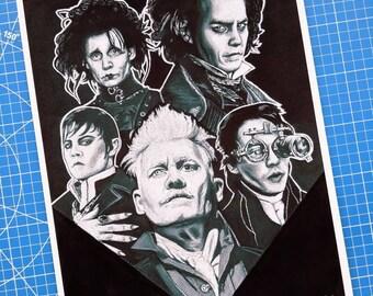 Johnny Depp Halloween Art Print
