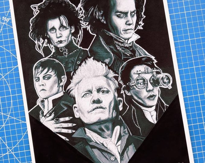 Featured listing image: Johnny Depp Halloween Art Print