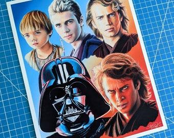 Anakin Skywalker Art Print