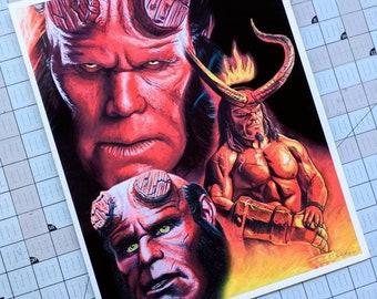 Hellboy Art Print