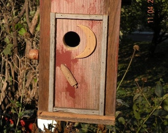 Barnboard Birdhouse Outhouse