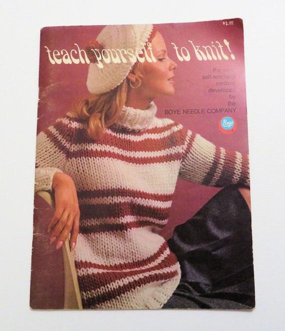 Destash Teach Yourself to Knit Boye Needle Company 1968 | Etsy