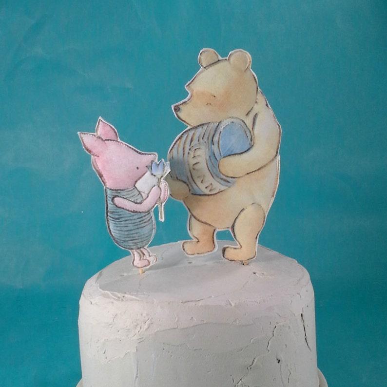Disney Pooh /& Friends Figurine Piglet Two Year Birthday Cake Topper