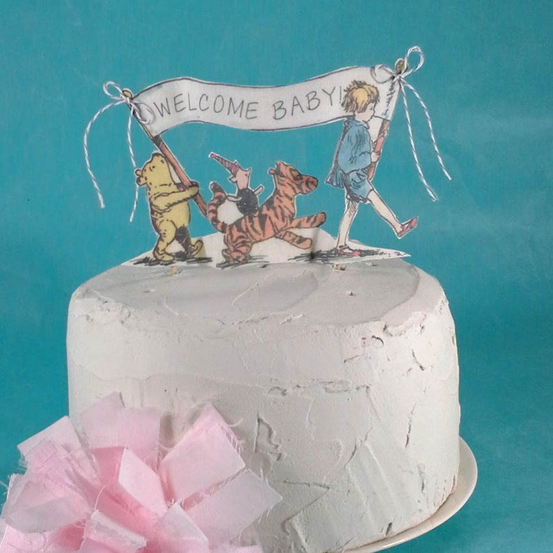 Classic Pooh Bear Cake Topper Fabric Winnie The Baby