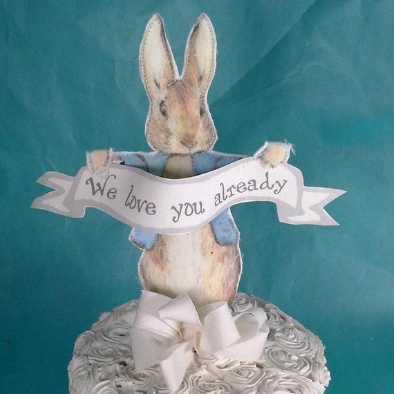 Image of: Giving Birth Peter Rabbit Topper Stof Peter Rabbit Baby Douche Taart Topper Decoratie K253 Etsy Peter Rabbit Topper Stof Peter Rabbit Baby Douche Taart Etsy