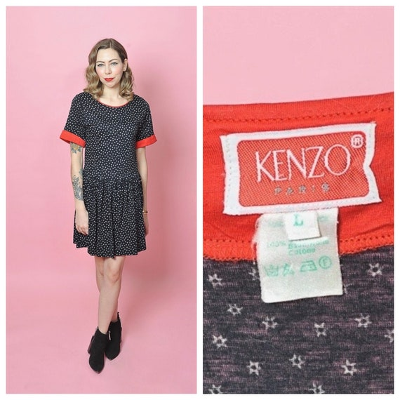 Late 1970's/ Early 1980's Kenzo Star Print Dress/