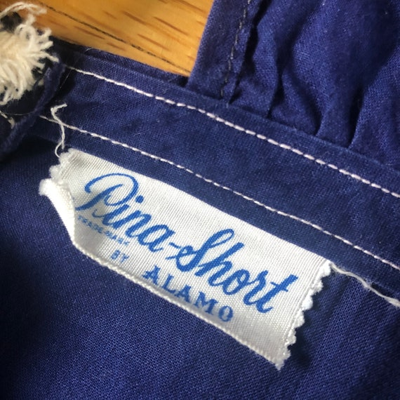 1940's Dark Blue Cotton Playsuit Romper Size Small - image 6