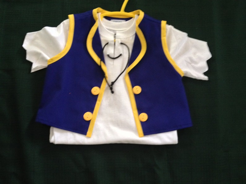 Pirate costume vest shirt and headband
