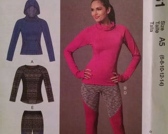 McCall's M7261 active wear pattern.