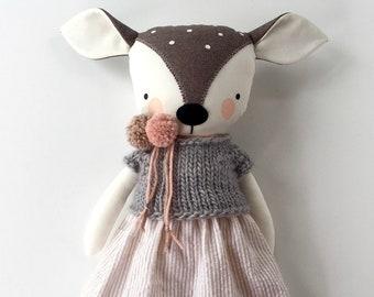 luckyjuju fawn deer doll - girl