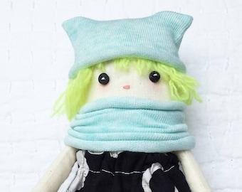 Handmade Ragdoll - Baby Shower - Nursery Decor Girls - Gift for Her - Gift for Girls - Pretty Ragdoll - Small Cloth Doll