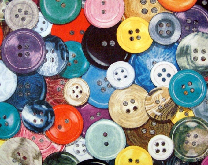 Buttons - Limited Edition Giclee Print by Jodi Myers