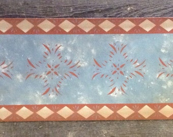 """Table Runner by Black Horse Floorcloths - 12"""" x 36"""" - Ready to ship!"""