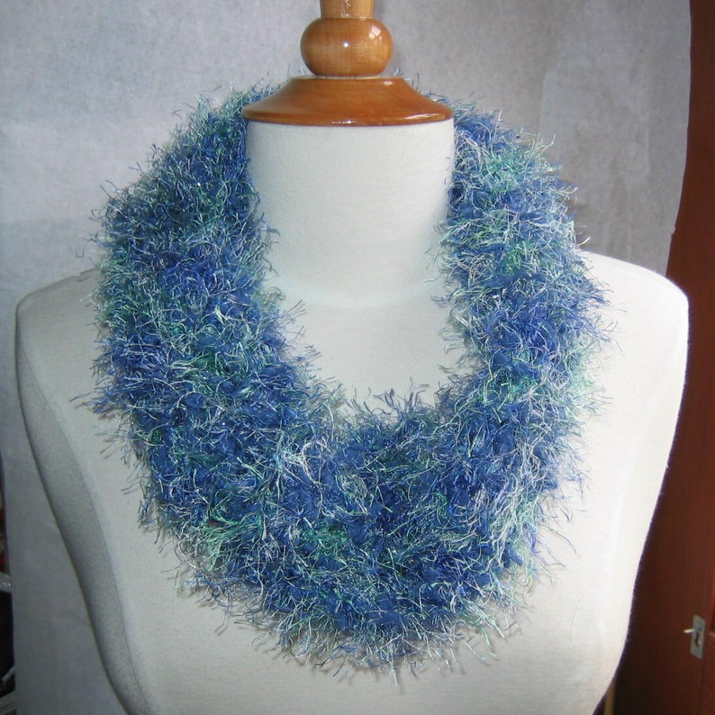 Caribbean and Denim Blues Neck Warmer Cowl image 0