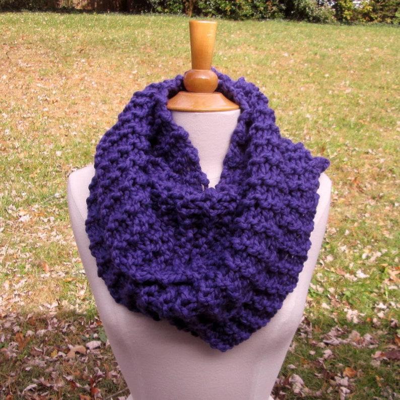 Plush Infinity Scarf Cowl in Grape Purple image 0
