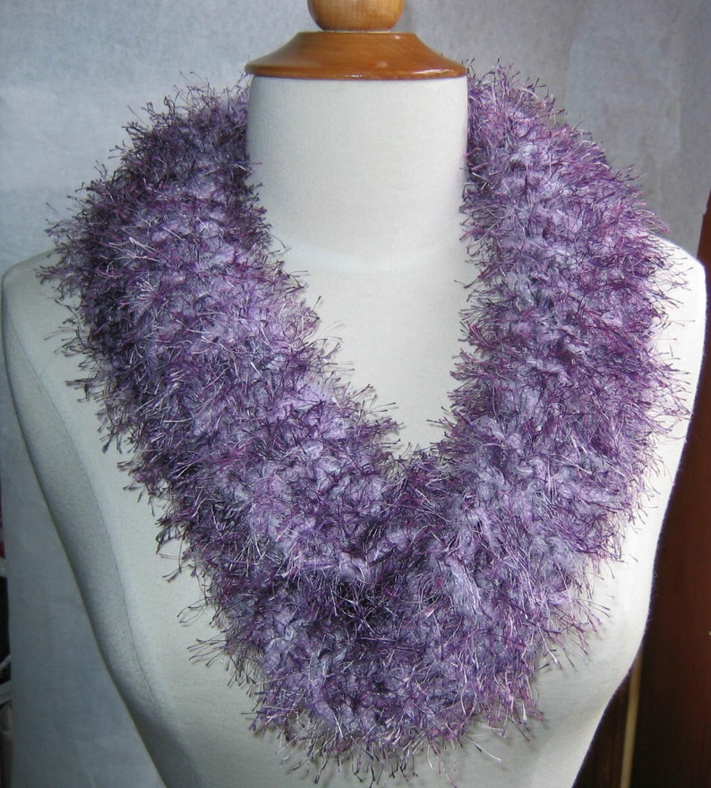 Lavender and Plum Cowl Scarf Neck Warmer image 0