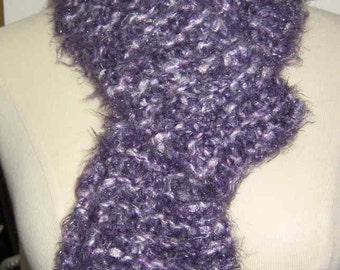 Shimmery Purple and Lavender Scarf