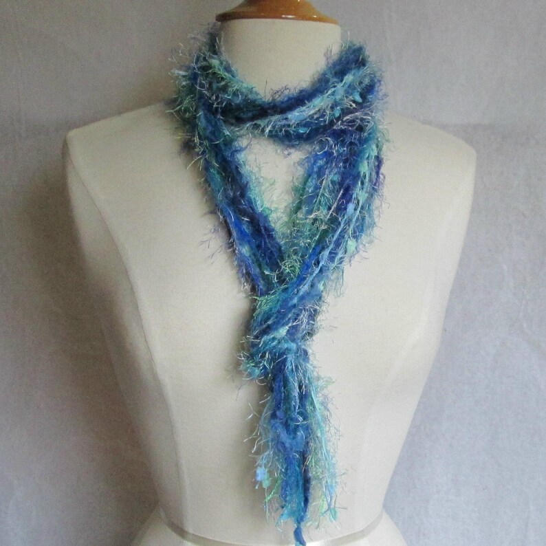 The Knotty Scarf in Ocean Blues & Greens image 0