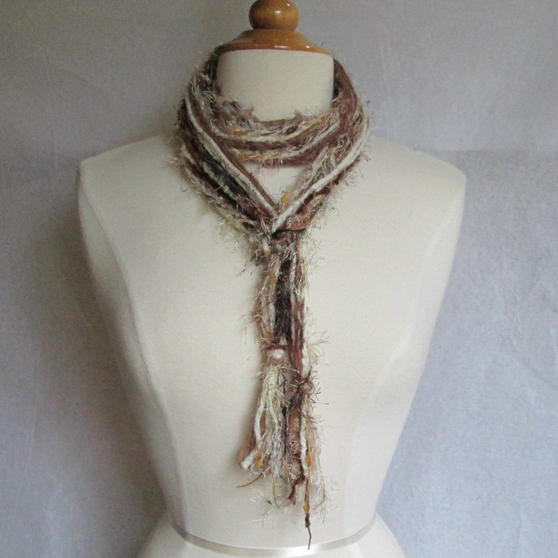 The Knotty Scarf in the Colors of A Snickers Bar image 0