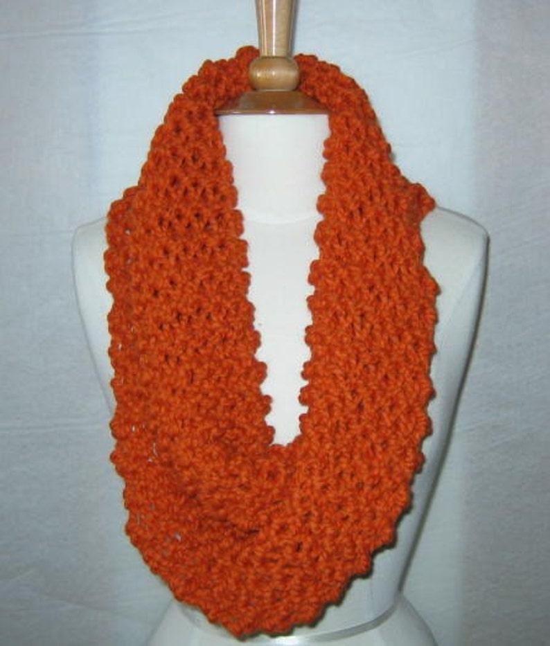 Soft and Plush Pumpkin Orange Cowl Scarf Neck Warmer image 0