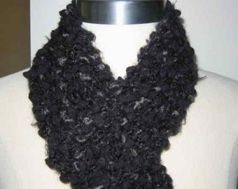 Whisper Soft Black and Charcoal Grey Scarf