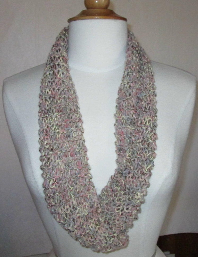 Lovely Sand and Rose with Gold Lightweight Cowl image 0