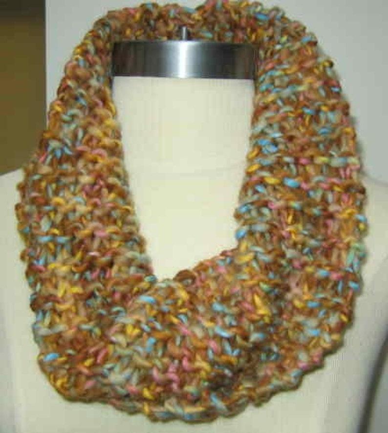 Warm Desert Spring Tone Wool Cowl Neck Warmer image 0