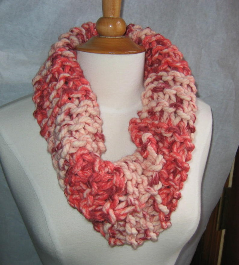 Peppermint Bark Cowl Scarf Neck Warmer image 0