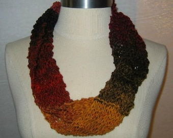 Colors of Fall Neck Warmer Cowl Scarf