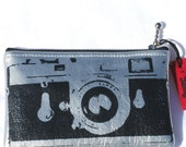 Camera case Zipper pouch Silver Leica