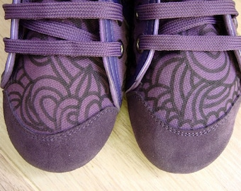Zapatillas de loneta moradas/ Purple Weight cotton shoes