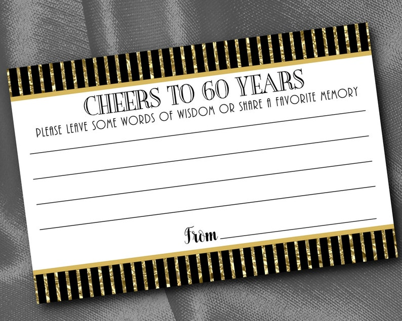 Birthday Advice Cards Anniversary Art Nouveau Art Deco Words of Wisdom Cards Party Activity Cards Gatsby Retirement Party,