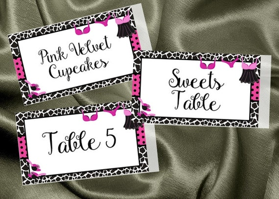Personalized Food Label Stickers Name Tags Favor Animal