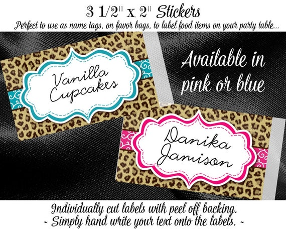 10 blank name tags food label stickers favor stickers baby shower