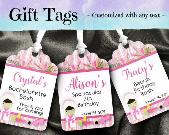 12 favor tags gift tag bridal shower birthday