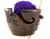 Autumn Leaves- Really Big Yarn Bowl - Ready to Ship