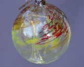 Hand Blown Art Glass Witch Ball /Ornament/Suncatcher