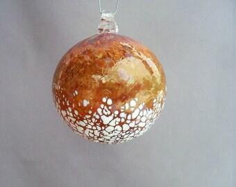 Hand Blown Art Glass Christmas Ornament/Ball/Suncatcher