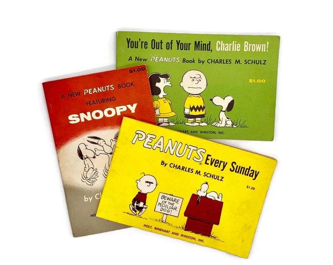 Vintage Set of 3 Peanuts Paperbacks by Charles M. Schulz