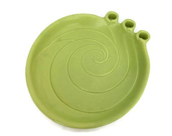 Vintage Haeger Celery Green Ceramic Tray