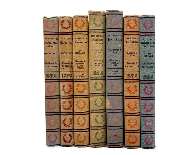 Vintage Set of 7 Books from the Signature Book Series