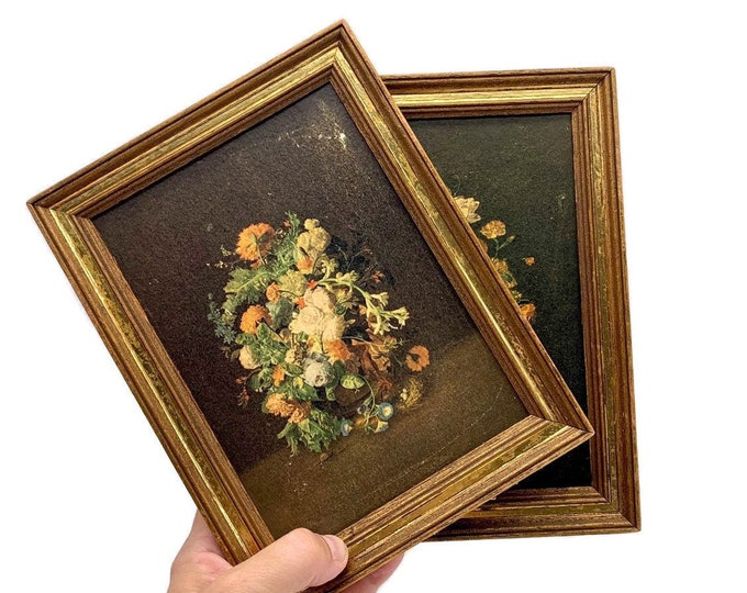 Vintage Pair of Floral Still Life Prints